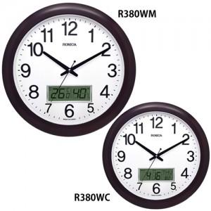 로니카 우드엔틱 온도계 습도계 벽시계 R380WM