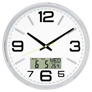 국민 캘린더 무소음 온도벽시계 JS6020