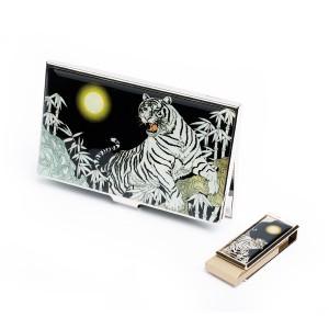 자개 명함케이스 +  USB 8G 2종세트(백호)