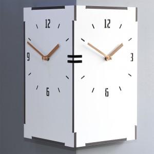 직사각 코너시계 - 화이트 (Reangle corner clock - White)