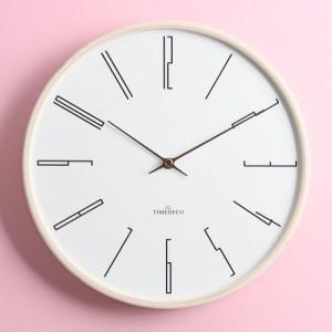 화이트모던 롱넘버 내츄럴 벽시계(Long Number Natural Clock)
