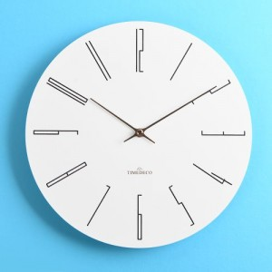 화이트모던 롱넘버 벽시계(Long Number Clock)
