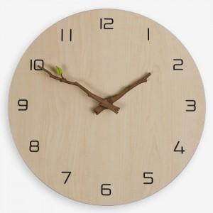 내츄럴 나뭇가지 벽시계 (Natural Leaf Clock)