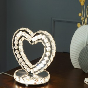 [W-T-L-0034]하트 크리스탈 LED 단스탠드