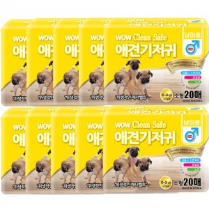 [10개세트]와우 크린세이프 애견기저귀 20매 (남아/소형)가격:120,000원