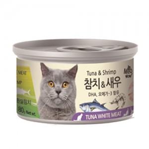 [BOX24개입] 미우와우 흰살참치 고양이캔 80g 새우가격:36,000원