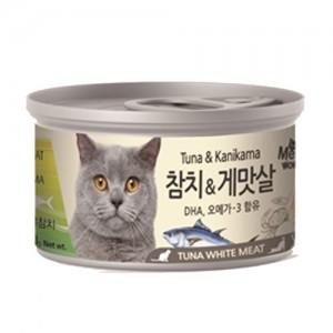[BOX24개입] 미우와우 흰살참치 고양이캔 80g 게맛살가격:36,000원