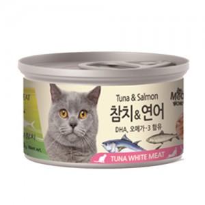 [BOX24개입] 미우와우 흰살참치 고양이캔 80g 연어가격:36,000원