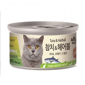 [BOX24개입] 미우와우 흰살참치 고양이캔 80g 헤어볼가격:36,000원