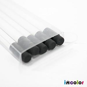 incolor 투명케이스 5본입 화이트육각(2B) 연필세트