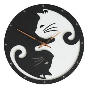 블랙앤화이트 고양이 벽시계 (Black & White CAT Clock)
