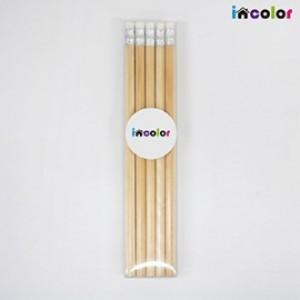 incolor 투명케이스 5본입 네츄럴 연필세트