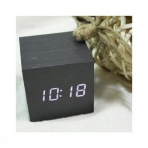 디팡스 LED 탁상시계(60mm, 블랙, 화이트 LED)