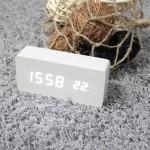 디팡스 LED 탁상시계(150mm, 화이트, LDE 화이트)
