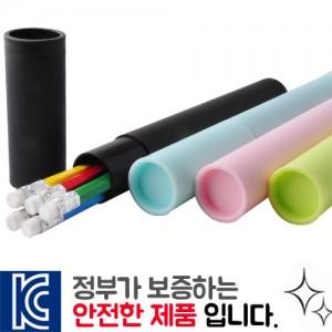 인젝션 육각지우개연필 5P [원통세트]