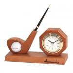 골프클럽 탁상시계&펜홀더 R-011