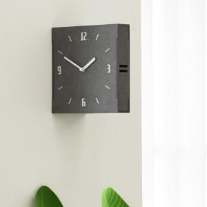 그레이 우드 양면 벽시계 (Gray Wood Double Clock)