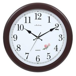 장미자판월넛벽시계