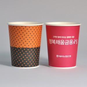 테이크아웃용 10온스종이컵(4도풀칼라인쇄)