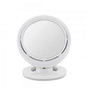포스크 미인거울 탁상용 원형 LED 조명 무선 화장거울