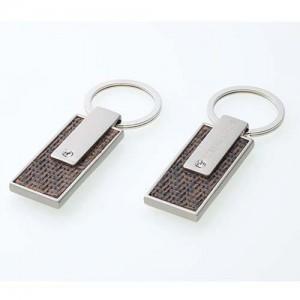 메탈 큐빅 엠보 양면 열쇠고리