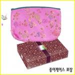 [통장지갑] 누비 통장 파우치(꽃)