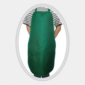 무지헤리녹색,단색앞치마,목걸이앞치마