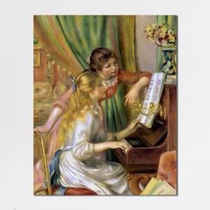 [캔버스액자] 르누아르_피아노 치는 소녀들