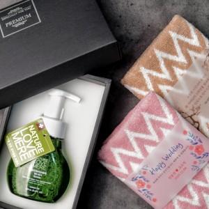 네이쳐러브메레 핸드워시 + 핸드타올(핑크,브라운) 선물세트