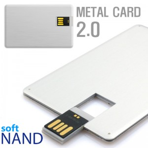 [소프트낸드] 메탈 카드형USB메모리 2.0 64G