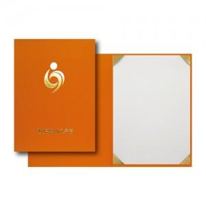 주황색 종이상장케이스