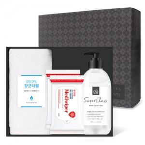 코로나 생활안심세트-V403 (항균타올1P + 손소독제 500ml 1P + 손소독티슈 20매입 2P)