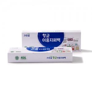 크린홈 항균이중지퍼백10매