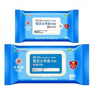 항균소독 간편티슈 60매 (캡형)