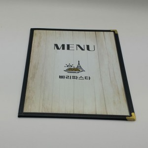 DS투명 메뉴북 블랙(A4)