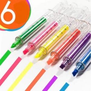 주사기 모양 형광펜