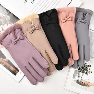 여성용 고급 민무늬 디자인 장갑