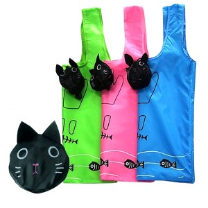 귀여운 고양이 시장가방