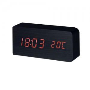 LED시계-직사각(블랙)