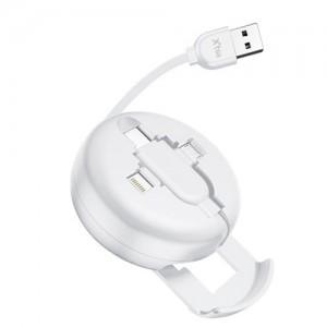 3in1 릴타입 USB 케이블