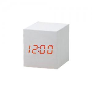 정사각 LED시계 (화이트)