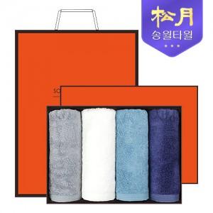 [송월타올] 송월 솔리드뱀부얀 190g 4P 타올세트