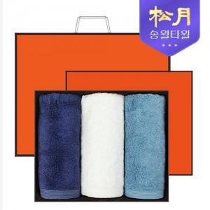 [송월타올] 송월 솔리드뱀부얀 190g 3P 타올세트