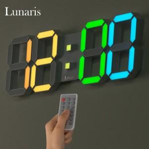 국산 루나리스 3D LED 인테리어 벽시계 레인보우 LG전구 38cm