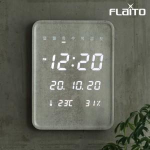플라이토 루나 우드 데일리 온습도 LED 벽시계