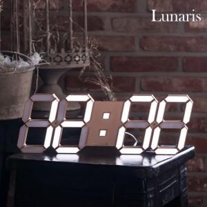 국산 루나리스 3D LED 벽시계 38cm 골드