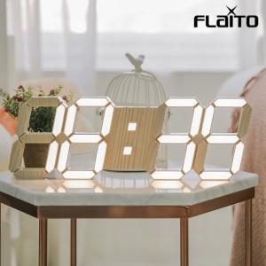 국산 플라이토 우드 LED 벽시계 38cm