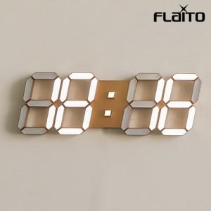 국산 플라이토 LED 벽시계 38cm 골드