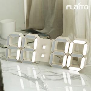 국산 플라이토 LED 벽시계 38cm 크림화이트