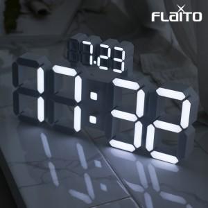 플라이토 데이즈 3D LED 인테리어 벽시계 38cm